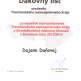 Poďakovanie za reprezentáciu tsk v stredoškolskej odbornej činnosti v š.r.2013/2014 - Ďakovný_list_-_Dajana_Daňová